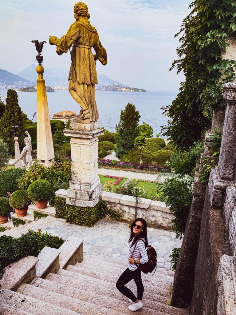 Lago Maggiore itinerario Isole Borromee scorcio nei giardini di isola bella