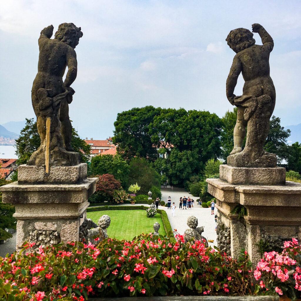 statue giardino isola bella